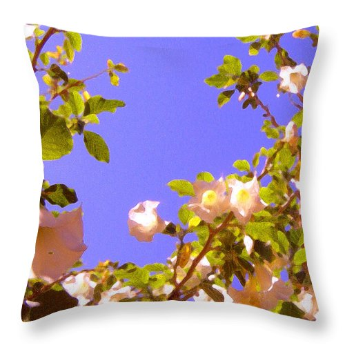 Landscapes Throw Pillow featuring the painting Flowering Tree 2 by Amy Vangsgard