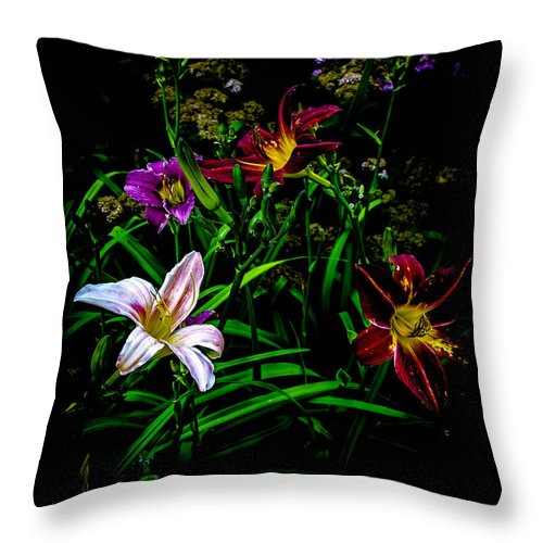 Flower Throw Pillow featuring the photograph Flowers In The Garden by Sherman Perry
