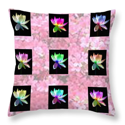 Flowers Throw Pillow featuring the photograph Flowers by Martin Masterson