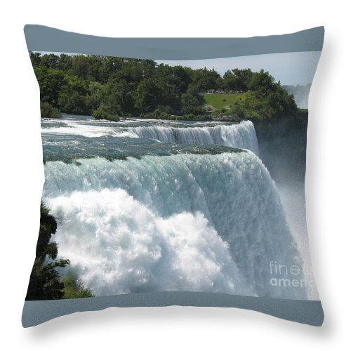 Waterfalls Throw Pillow featuring the photograph Flowing Strong by Jeffery L Bowers