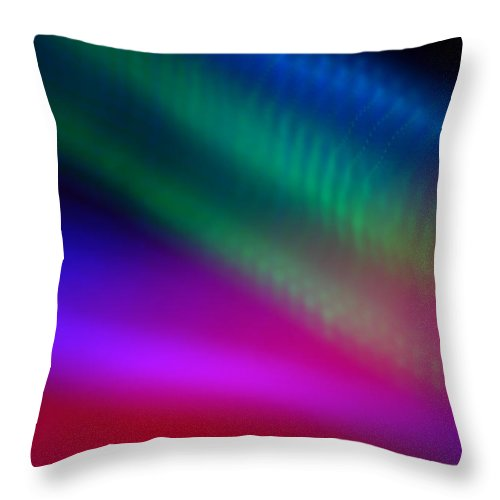 Abstract Throw Pillow featuring the photograph Fly By Night by Dazzle Zazz