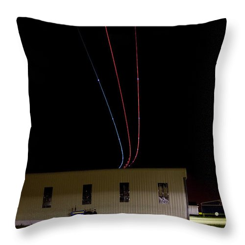 Aircraft Throw Pillow featuring the photograph Fly Over by Paul Job
