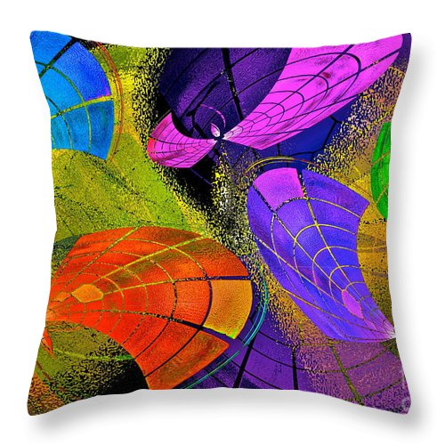 Flying Colors Throw Pillow featuring the photograph Flying Colors by Gwyn Newcombe