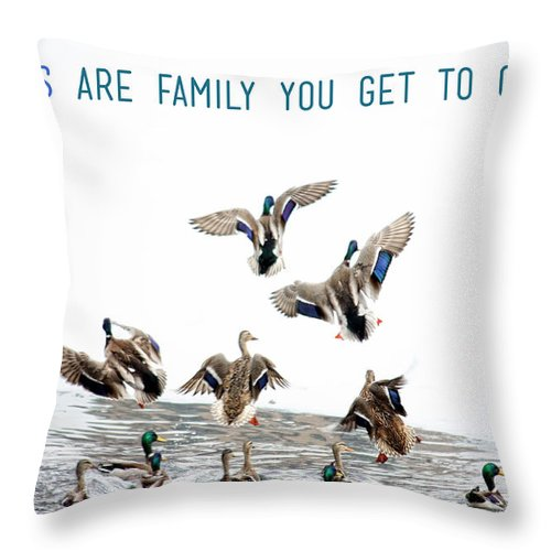 Flying Ducks And A Friends Quote Throw Pillow For Sale By Nishanth Gopinathan