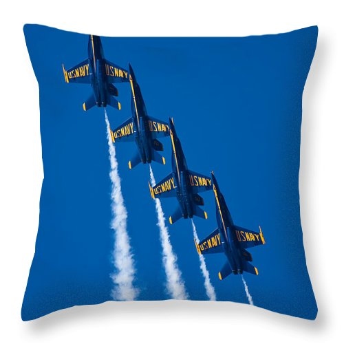 3scape Photos Throw Pillow featuring the photograph Flying High by Adam Romanowicz