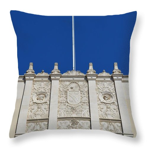 Architecture Throw Pillow featuring the photograph Flying High by Shawn Marlow