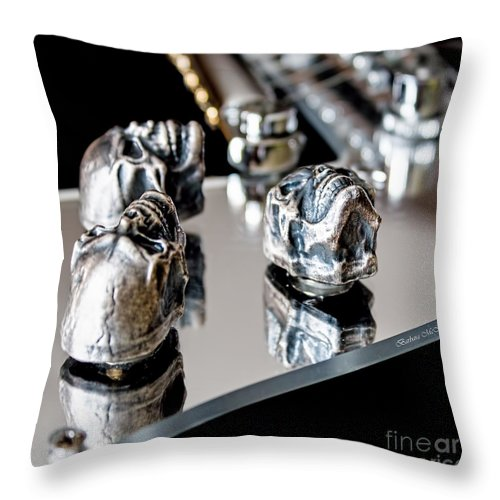 Guitar Throw Pillow featuring the photograph Flying V by Barbara McMahon