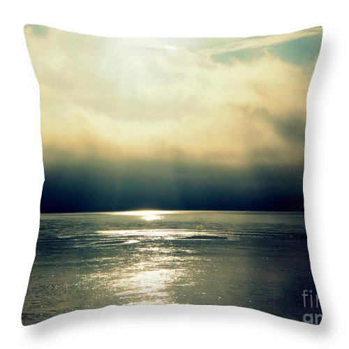 Fog Throw Pillow featuring the photograph Fog Bank by Jaunine Roberts