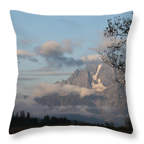 Throw Pillow featuring the photograph Fog In The Tetons # 2 by G Berry