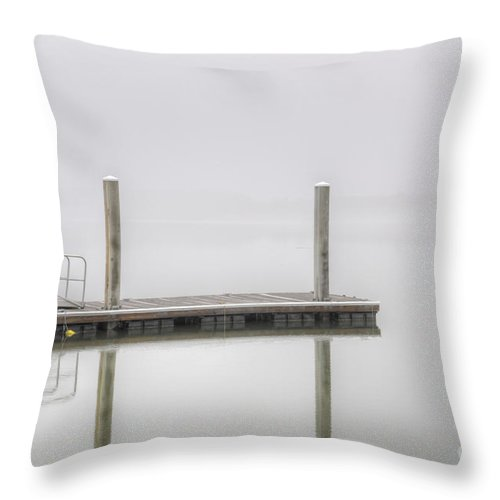 Fog Throw Pillow featuring the photograph Fog On The Water by Dale Powell