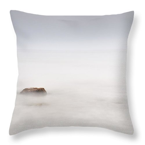 Seascape Throw Pillow featuring the photograph Foggy Evening by Guido Montanes Castillo