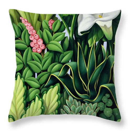 Foliage Throw Pillow featuring the painting Foliage by Catherine Abel
