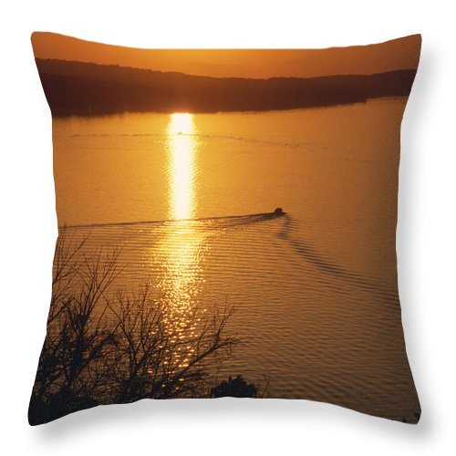 Lake Geneva Throw Pillow featuring the photograph Follow Me Home - Lake Geneva Wisconsin by Bruce Thompson