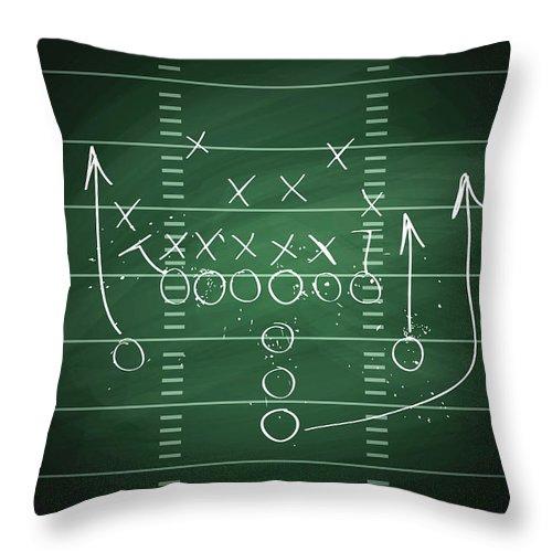 Plan Throw Pillow featuring the digital art Football Play by Traffic analyzer