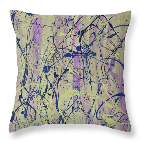 Abstract Throw Pillow featuring the painting For Hayley by Laura Lane