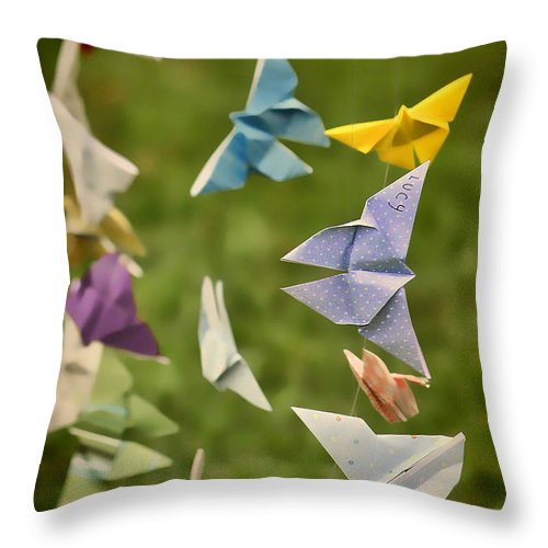 Butterfly Throw Pillow featuring the photograph For Lucy by K Hines