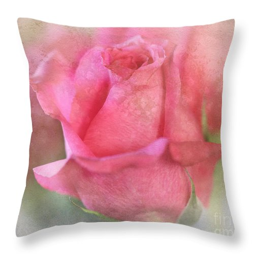 Flower Throw Pillow featuring the photograph For The Love Of Pink by TN Fairey