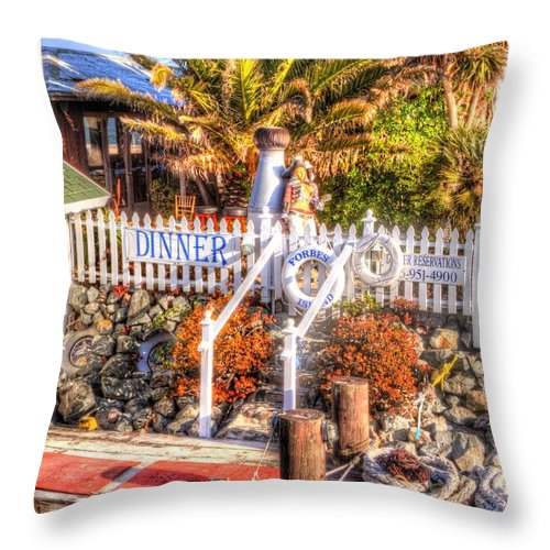 Forbes Island Throw Pillow featuring the photograph Forbes Island by Bill Gallagher