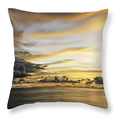 Beautiful Throw Pillow featuring the photograph Forbidding Clouds by Maria Coulson