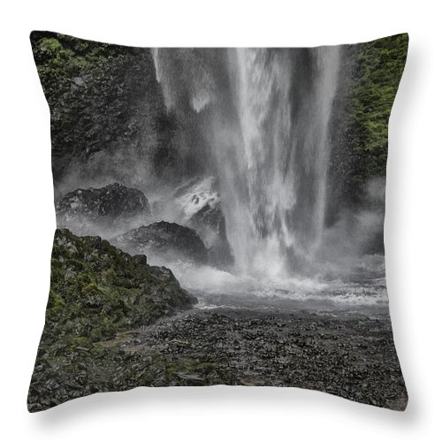 Creek Throw Pillow featuring the photograph Force Of Nature by Erika Fawcett