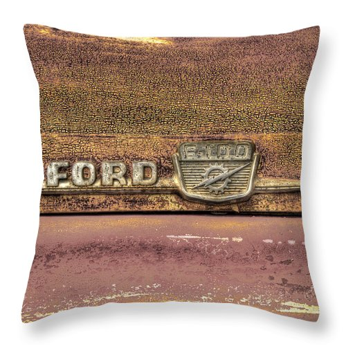 Classic Throw Pillow featuring the photograph Ford F-100 by Thomas Young