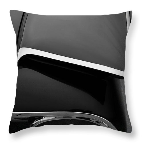 Ford Throw Pillow featuring the photograph Ford Fins by Paul Quinn