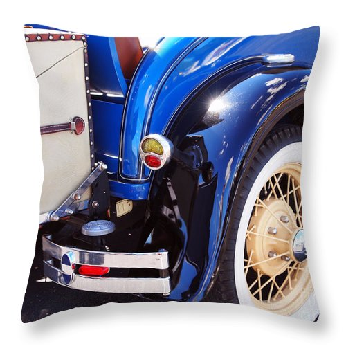 1929 Ford Roadster Model A Shay Throw Pillow featuring the photograph Ford Roadster by Deborah Fay