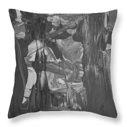 Original Throw Pillow featuring the painting Forecast by Artist Ai