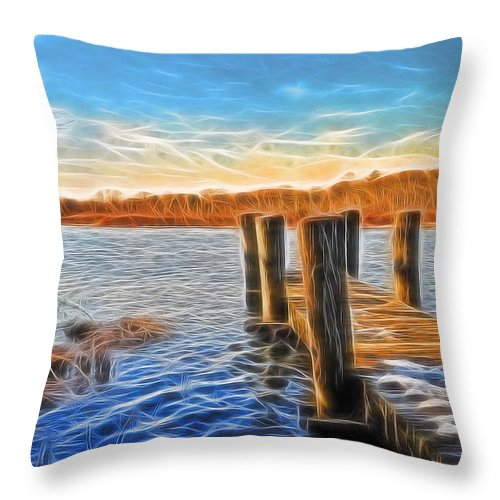 Water Throw Pillow featuring the photograph Forelorn Summer by Tony Ambrosio