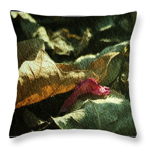 Textured Art Throw Pillow featuring the photograph Forest Floor by Bonnie Bruno