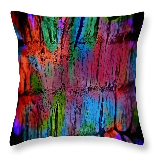 Photo Throw Pillow featuring the digital art Forest Mysticism by Tracy Russell
