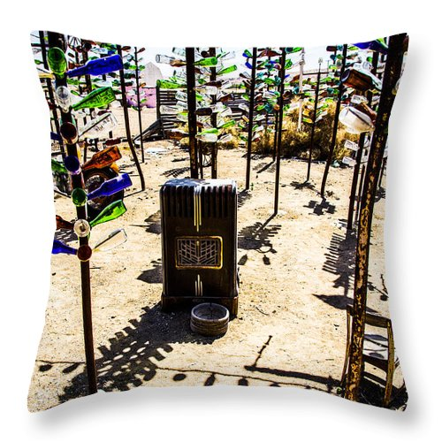 Bottleneck Ranch Throw Pillow featuring the photograph Forest Resident by Angus Hooper Iii