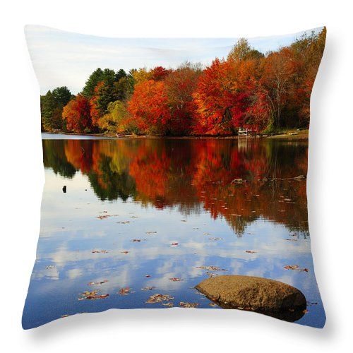 Autumn Throw Pillow featuring the photograph Forever Autumn by Luke Moore