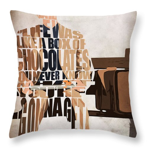 Forrest Gump Tom Hanks Throw Pillow for Sale by Inspirowl Design