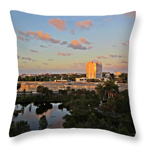 Fort Lauderdale Florida Throw Pillow featuring the photograph Fort Lauderdale Scene by MTBobbins Photography