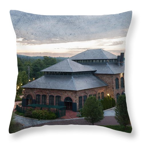 Phoenixville Throw Pillow featuring the photograph Foundry Building In The Morning by Michael Porchik