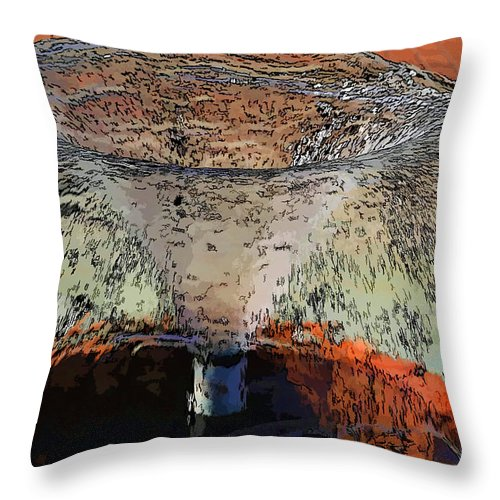 Fountain Throw Pillow featuring the photograph Fountain In The Park by Melvin Busch