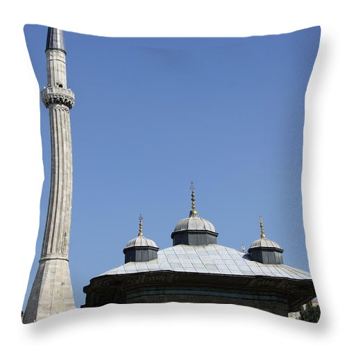 Fountain Of Ahmet Iii Throw Pillow featuring the photograph Fountain Of Ahmet IIi - Istanbul by Christiane Schulze Art And Photography