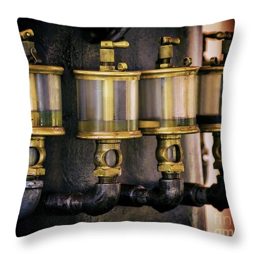Engine Throw Pillow featuring the photograph Four Degrees Of Separation by Joe Geraci