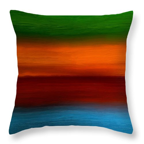 Four Seasons Throw Pillow featuring the digital art Four Seasons Magic by Lourry Legarde