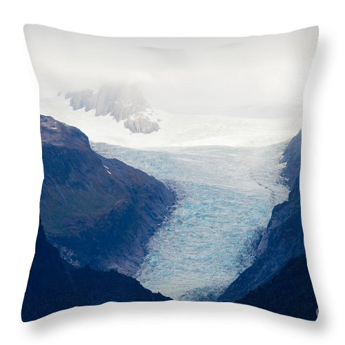 South Island Throw Pillow featuring the photograph Fox Glacier On South Island Of New Zealand by Stephan Pietzko