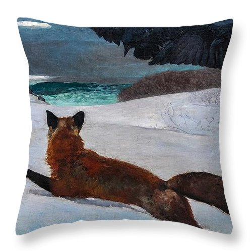 Winslow Throw Pillow featuring the painting Fox Hunt 1893 by Philip Ralley