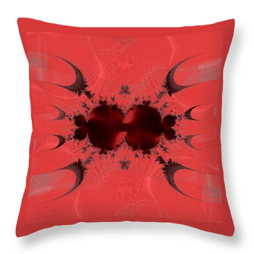 Fractal 003 Throw Pillow featuring the digital art Fractal 003 by Maria Urso