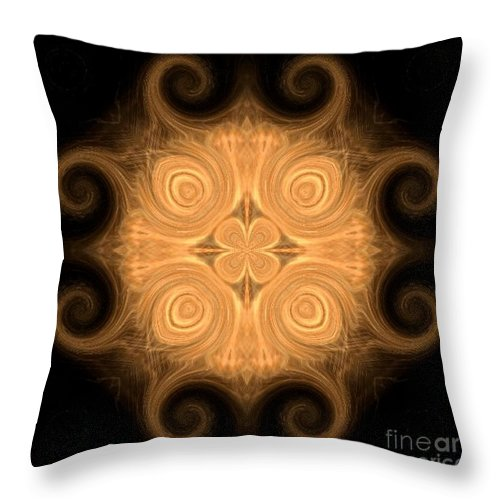 Fractal 013 - 1 Throw Pillow featuring the photograph Fractal 013 - 1 by Maria Urso