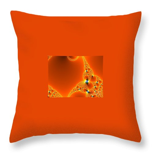 Throw Pillow featuring the digital art Fractal 3 by Taylor Webb