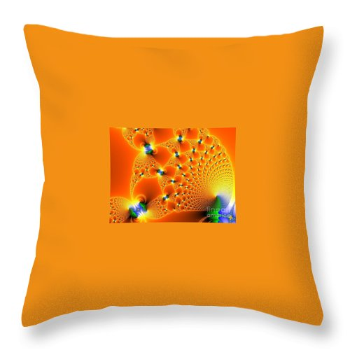 Throw Pillow featuring the digital art Fractal 4 by Taylor Webb