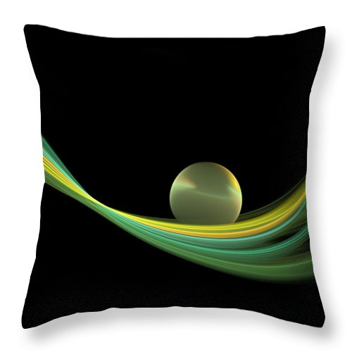 Digital Art Throw Pillow featuring the digital art Fractal Balance by Gabiw Art