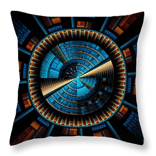 Fractal Throw Pillow featuring the digital art Fractal City by Sven Fauth