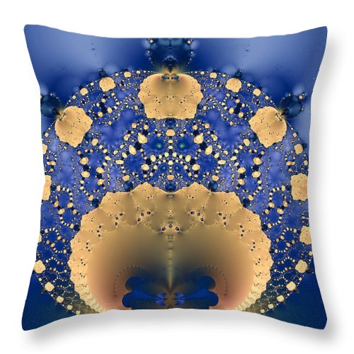 Abstract Throw Pillow featuring the photograph Fractal Doily by Pete Trenholm