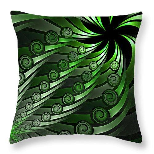Fractal Throw Pillow featuring the digital art Fractal On The Way by Gabiw Art